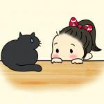猫と子供の共同生活